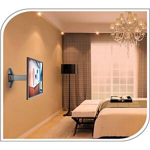 TV-Wandhalterung, neigbar, schwenkbar, 32 - 55, schwarz PUREMOUNTS PM-FM10-400