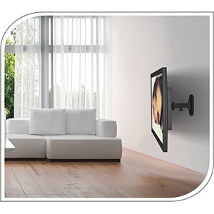 TV-Wandhalterung, neigbar, schwenkbar, 13 - 27, schwarz PUREMOUNTS PM-FM11-100