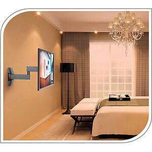 TV-Wandhalterung, neigbar, schwenkbar, 23 - 42, schwarz PUREMOUNTS PM-FM11-200