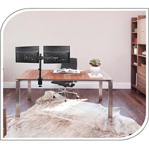 Monitor-Halter, 2 Displays, Tischmontage, bis 8 kg, 13 - 27 PUREMOUNTS PM-OFFICE-02
