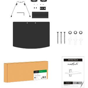 Wand-Komponentenregal, universal, max. 8 kg, schwarz PUREMOUNTS PM-SHELF-01