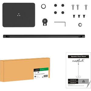 Lautsprecher-Ständer, max. 2 kg, schwarz PUREMOUNTS PM-SOM-020