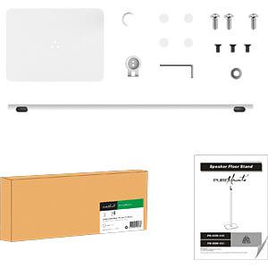 Lautsprecher-Ständer, max. 2 kg, weiß PUREMOUNTS PM-SOM-021