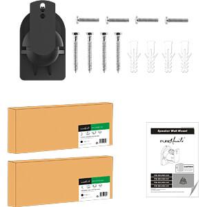 Lautsprecher-Wandhalterung, 2er-Set, max. 3,5 kg, schwarz PUREMOUNTS PM-SOUND-020