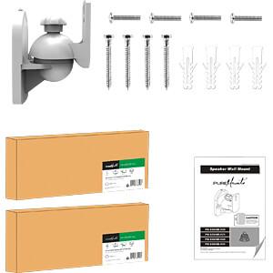 Lautsprecher-Wandhalterung, 2er-Set, max. 3,5 kg, weiß PUREMOUNTS PM-SOUND-021