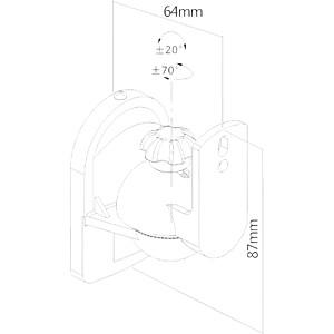 Support mural pour haut-parleur, lot de 4, 3,5 kg maximum, noir PUREMOUNTS PM-SOUND-040