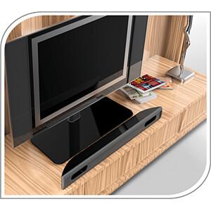 TV-Standfuß, 32 - 55, höhenverstellbar, max. 40 kg, schwarz PUREMOUNTS PM-TVS-01