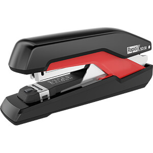 Heftgerät, bis zu 30 Blatt, schwarz/rot RAPID 5000547