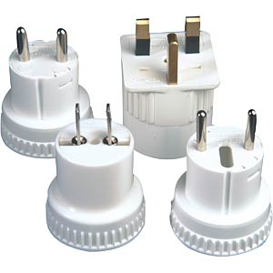 Travel plug adapter set FREI