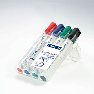 Whiteboard Marker, 2 mm, 4-color STAEDTLER 351 WP4
