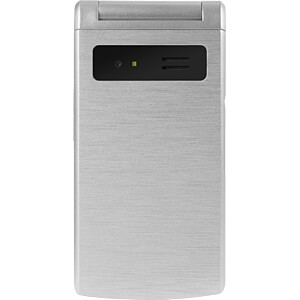 Mobiltelefon, Klapphandy, Dual-SIM, silber SWISSTONE 450042