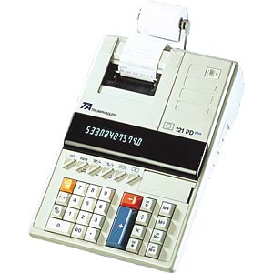 Desktop calculator with printing function and display TRIUMPH-ADLER B6410301