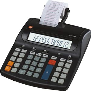 Desktop calculator with ribbon printing unit TRIUMPH-ADLER B4386000