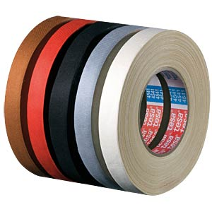 Flexible, uncoated fabric tape, 50 mm, red TESA 04541-00075-00