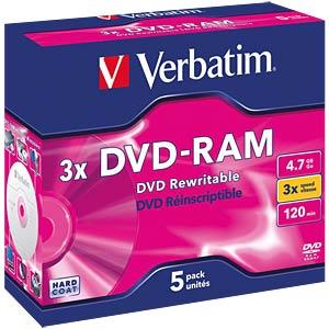 Verbatim DVD-RAM 4.7GB/5-pack VERBATIM 43450