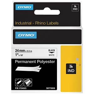 DYMO IND polyester, 24 mm, black/white DYMO 1734523