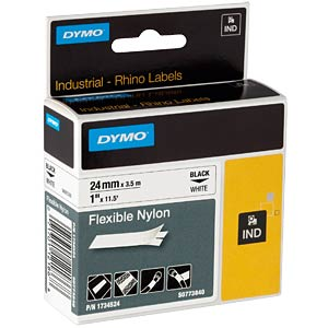 DYMO IND nylon, 24 mm, black/white DYMO S0773840