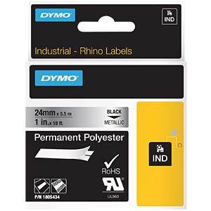 DYMO IND polyester, 24 mm, black/metallic DYMO 1805434