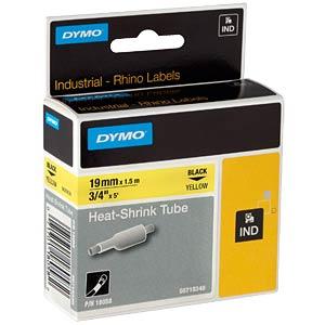 DYMO IND heat-shrink tubing 19 mm black/yellow DYMO 18058