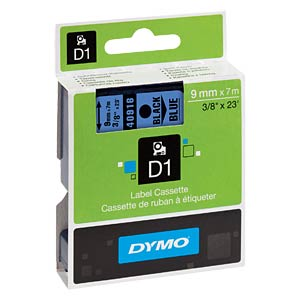 DYMO D1 tape, 9 mm, black/blue DYMO S0720710