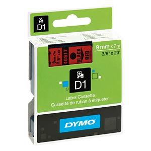 DYMO D1 Schriftband, 9mm, schwarz/rot DYMO S0720720