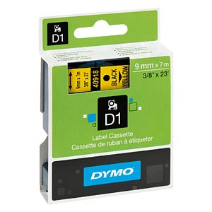 DYMO D1 tape, 9 mm, black/yellow DYMO S0720730