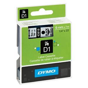 DYMO D1 Schriftband, 6mm, schw./transparent DYMO S0720770