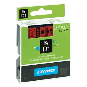 DYMO D1 tape, 12 mm, black/red DYMO S0720570