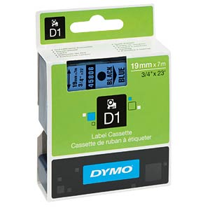 DYMO D1 tape, 19 mm, black/blue DYMO S0720860