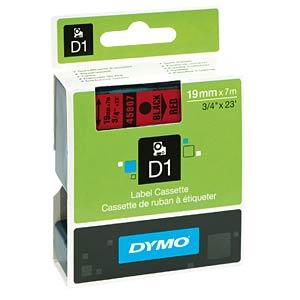 DYMO D1 tape, 19mm, zwart/rood DYMO S0720870