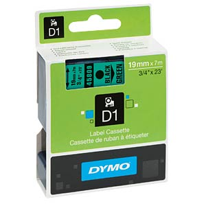 DYMO D1 tape, 19 mm, black/green DYMO S0720890