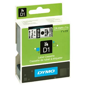 DYMO D1 tape, 24 mm, black/transparent DYMO S0720920