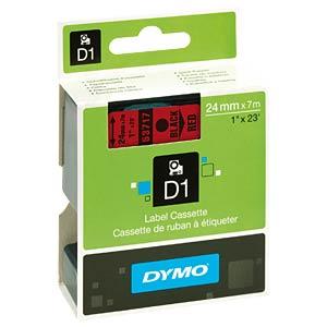 DYMO D1 Schriftband, 24mm, schwarz/rot DYMO S0720970