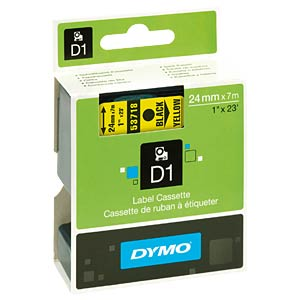 DYMO D1 Schriftband, 24mm, schwarz/gelb DYMO S0720980