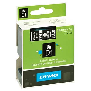 DYMO D1 tape, 24 mm, white/black DYMO S0721010