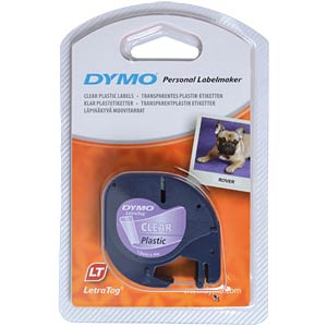 DYMO labelling tape, plastic, transparent DYMO S0721550