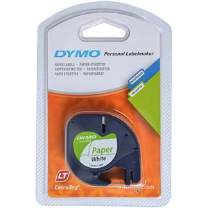 DYMO labelling tapes, paper, white DYMO S0721520