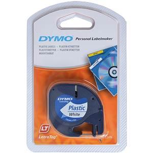 DYMO markeertape, plastic wit DYMO S0721660