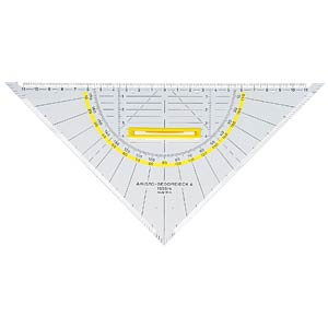 Set square with handle, hypotenuse length 250 mm ARISTO AR 1555/4