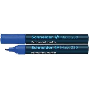 Permanent marker pen, blue SCHNEIDER 123003