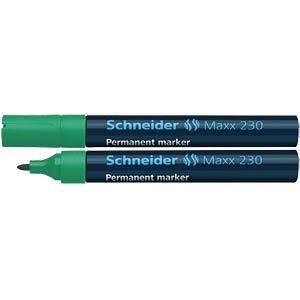 Permanentmarker, grün SCHNEIDER 123004