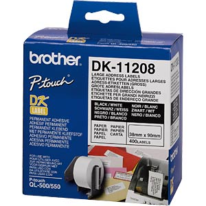 Address labels (large), 38x90 mm BROTHER DK-11208