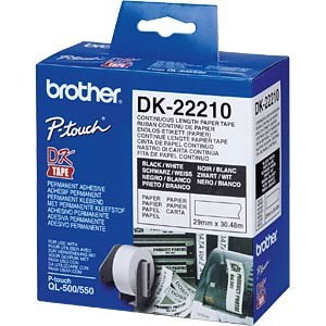 Continuous label (paper) - white, 29 mm BROTHER DK22210