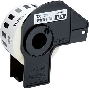 Continuous label (film) - white, 29 mm BROTHER DK22211