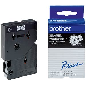 Brother Schriftbandkassette / 12mm / 7,7m BROTHER TC101