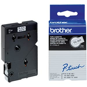 Brother Schriftbandkassette / 12mm / 7,7m BROTHER TC201