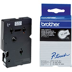 Brother Schriftbandkassette / 9mm / 7,7m BROTHER TC291