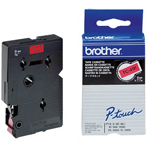 Brother TC-tape 9 mm - gelamineerd BROTHER TC491