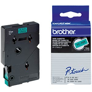 Brother TC tape cartridge 12 mm - laminated BROTHER TC701