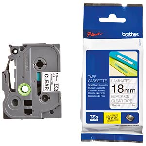 Brother tape cartridge / 18 mm, black/transparent BROTHER TZE141